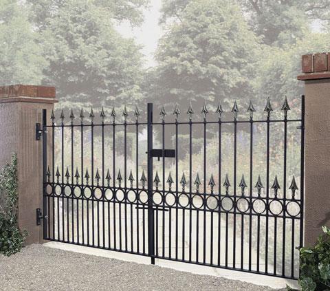 wrought iron double gates jarrett fencing