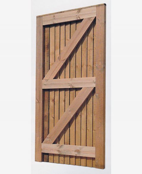 Closeboard Gate - Back