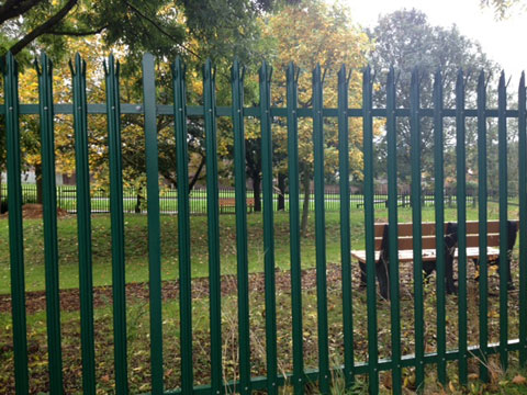 Triple Point Green Palisade Fencing