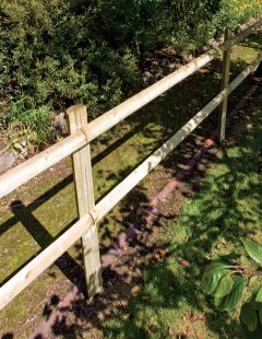 Half Round Post And 2 Rail  fencing Kits