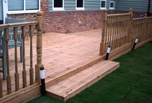 Decking installed by Jarrett Fencing