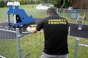 Installing a playground gate