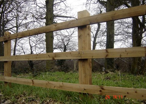 Post and 3 Rail  Fencing Kits