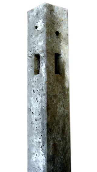 Morticed Concrete Corner Post