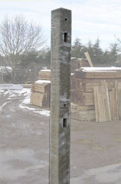 Morticed Concrete Post