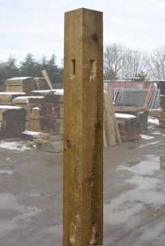 Morticed Timber Corner Post