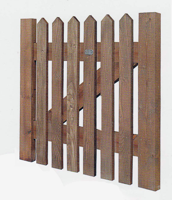 Pointed Top Picket Gate