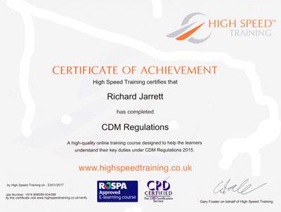 CDM regulations training
