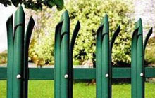 Powder-coated Green Steel Palisade