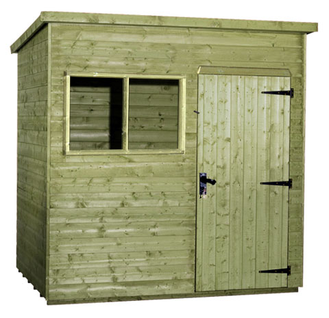 Tanalised Delux Pent Shed